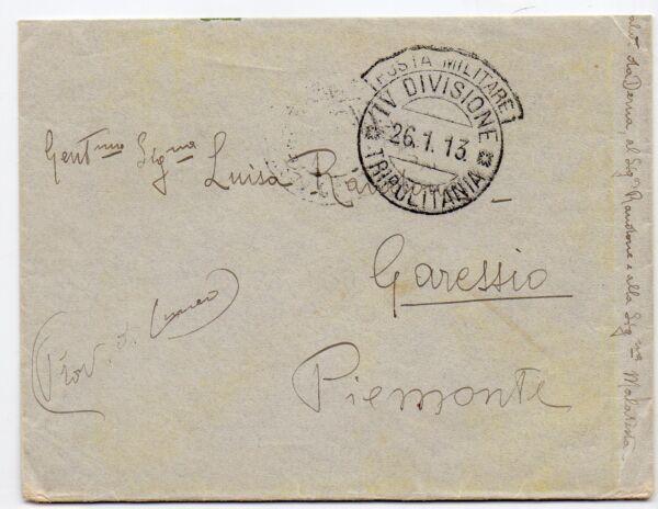 1913 Tripolitania Pm Iv Divisione 26/1 C/4173 Voulez-Vous Acheter Des Produits Autochtones Chinois?