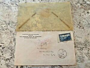 Vintage-Postage-Envelope-1941-Postage-to-New-York-City-Rare-Marks-Stamps