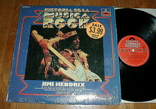 "JIMI HENDRIX 1981 ""Historia De La Musica Rock"" LP w All Along The Watchtower NM-"