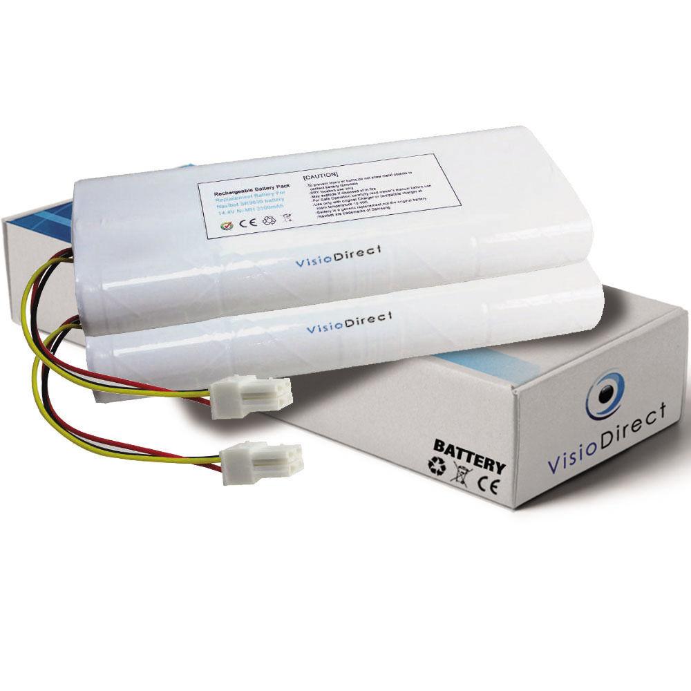 Lot de 2 batteries 14.4V 3500mAh pour Samsung Navibot VC-RL84VR - Sté Française-