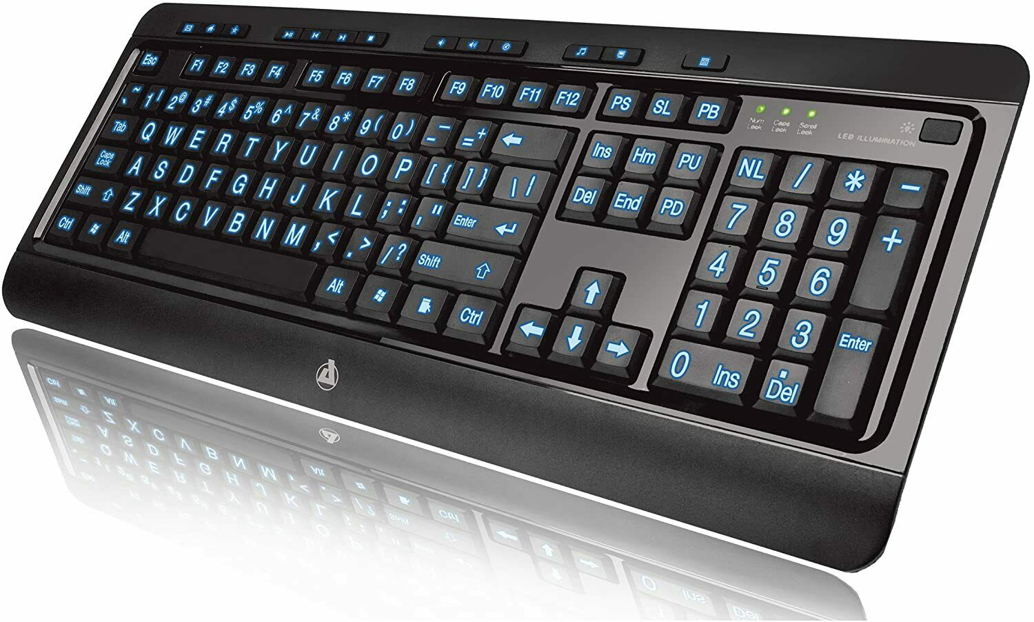 Lighted Computer Keyboard Full Size LED Backlight Multimedia Large Print 3 Color. Buy it now for 38.83