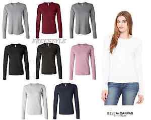 b6d6438e2562 Bella + Canvas Ladies' Long Sleeve Jersey T-Shirt 6500 Women's S-2XL ...