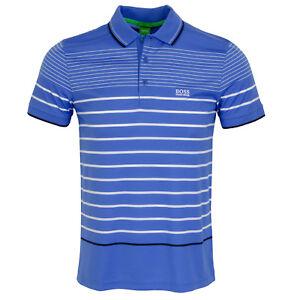 Hugo BOSS Paule Pro Men/'s Polo Short Sleeve Shirt Slim Blue 50369175 497 NWT