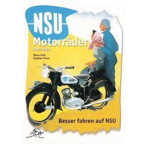 NSU-Motorraeder-1945-1964-Oldtimer-Modelle-Typen-Geschichte-Fox-Lux-Max-Buch