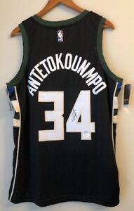 48b405585 Image is loading Giannis-Antetokounmpo-Signed-Milwaukee-Bucks-Autograph-Nike -Statement-