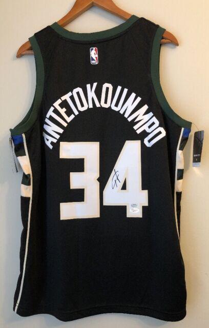 f5151fc5b Giannis Antetokounmpo Signed Milwaukee Bucks Autograph Nike Statement Jersey  JSA