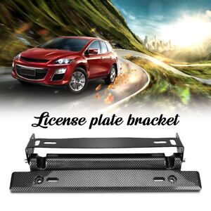 Universal-Bull-Bar-Front-Bumper-License-Plate-Mount-Bracket-Holder-Offroad-Light