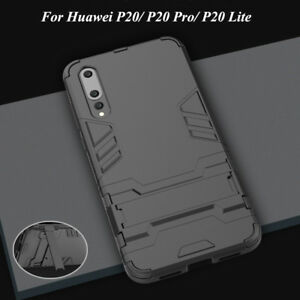 premium selection 309f0 20f70 Details about For Huawei P20/ Pro/ Lite, Case Kickstand Shockproof  Protective Armor Hard Cover