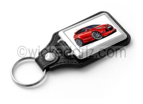 WickedKarz Cartoon Car Ford Focus MK3 Zetec S EcoBoost Red Stylish Key Ring