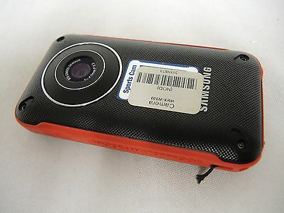 """Samsung Sports Cam HMX-W300 Camera Body Red """"FOR PARTS"""" (31573)"""