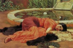 John-William-Godward-Sweet-Idleness-Art-Print-Mural-inch-Poster-36x54-inch
