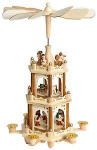 BRUBAKER-Christmas-Pyramid-18-Inches-Wood-Nativity-Play-3-Tier-Carousel