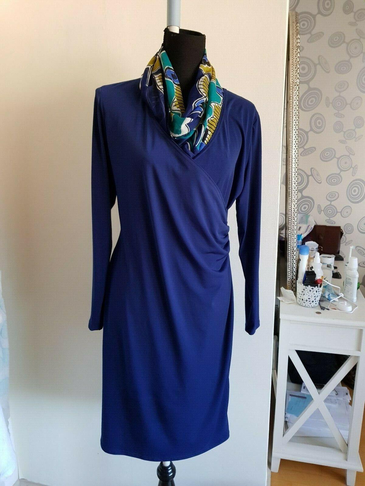 Kleid  von swing gr 42 maribe blau 1 mal getragen 2 stunden