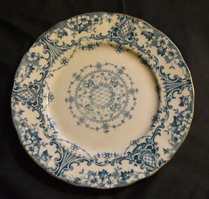 Sampson Hancock & Sons Pottery Westbourne Blue Transferware Plate Antique S.H.&S