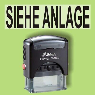 Zielsetzung Siehe Anlage Shiny Printer Schwarz S-842 Büro Stempel Kissen Schwarz