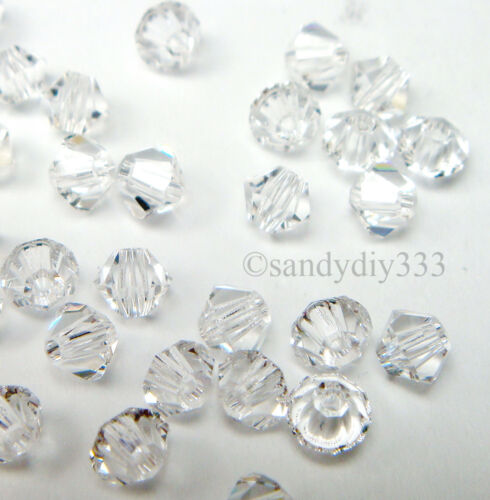144x SWAROVSKI 5328 CLEAR CRYSTAL 2.5mm BICONE XILION CRYSTAL BEAD
