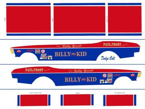 Bobby Yowell Billy The Kid Dodge Colt 1//64th HO Scale Slot Car Decals