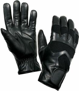 Cold Weather Black Military Shooting Gloves Thermoblock