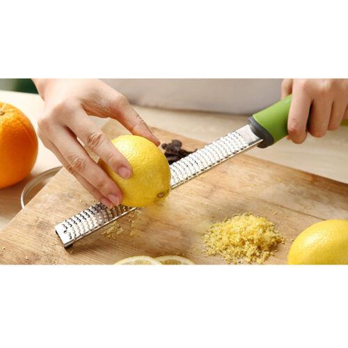 1pc professionelle Hand Käse Reibe Zitrone Zester grün