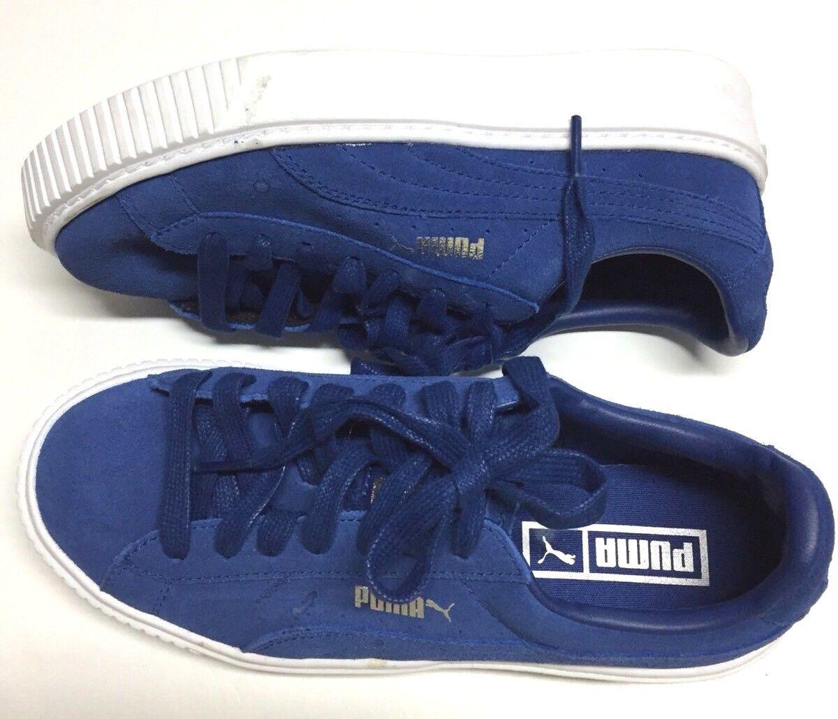 Puma Women's Suede Medium Platform 36222302 Peacoat White Casual Shoes Medium Suede 6.5 US 660942