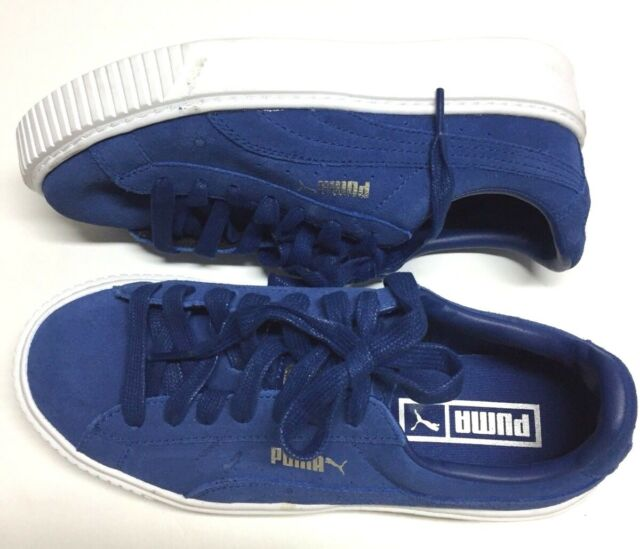 bdff6955be4d Puma Women s Suede Platform 36222302 Peacoat White Casual Shoes Medium 6.5  US
