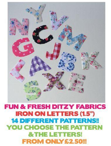 """* Nuevo * 14 Diseños! tamaño 1,5 /"""" Multi anuncio Hierro en Ditzy Tela Cartas"""
