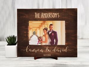 Wedding Photo Frame Personalized Picture Frame Custom Engraved Frame 4x6 5x7 6x8 Ebay