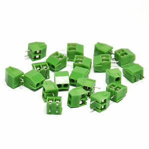100PCS-2-Pin-Way-Vertical-Screw-Header-3-5mm-137mil-pitch-For-Arduino-Shield