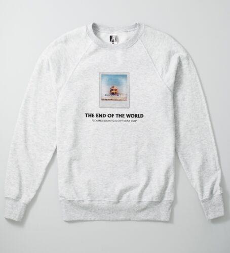 End Of World Sweatshirt Vintage Off Ape War Style Jumper Indie Instant Diet Top