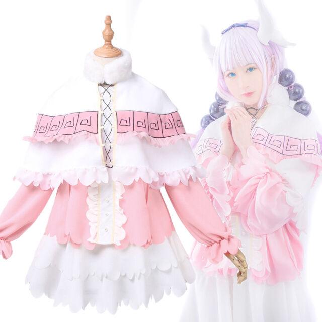 Anime Kanna Kamui Cosplay Costume Skirt Wig Cloak Sets Clothes Miss Kobayashis Dragon Maid Kanna Anime Party Cosplay For Women Home