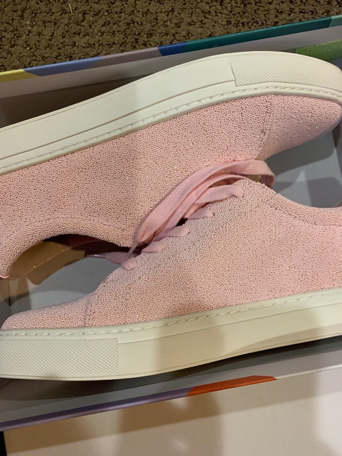 New Katy Perry Womens the sprinkle- Sprinkles Texture Sneakers, Pink, Size 9