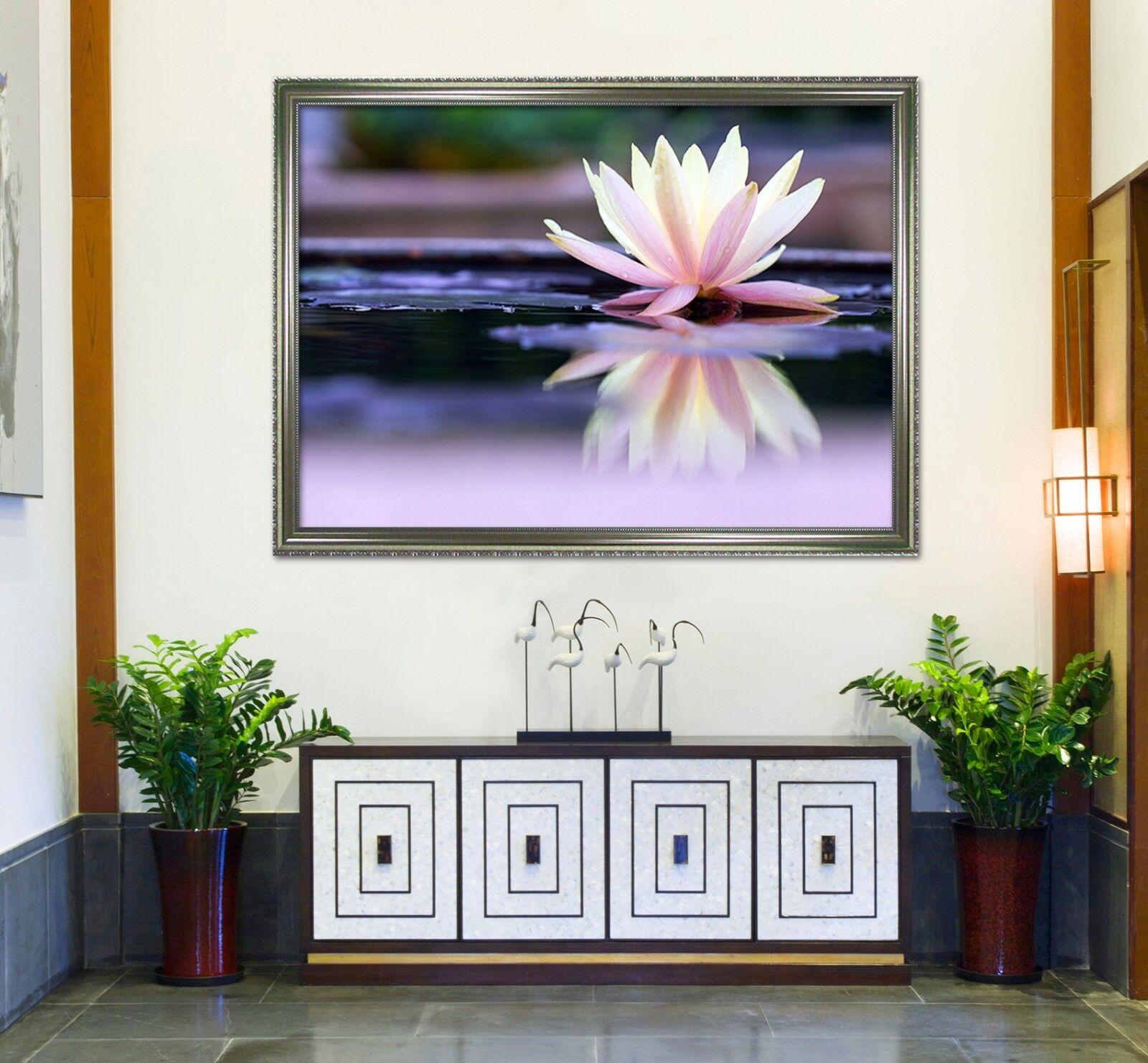 3D Beautiful Lotus Lake 1 Framed Poster Home Decor Print Painting Art WALLPAPER