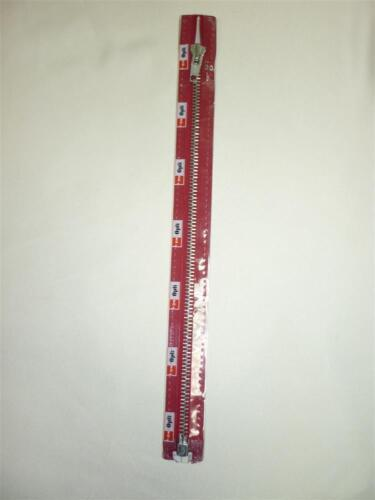 Reißverschluss Metall silber oder brüniert 30-80 cm teilbar Farbe weinrot