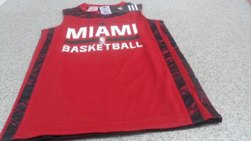 Adidas NBA Junior Kids Miami Heat Reversible 2 in 1 Basketball Tank Top G73306