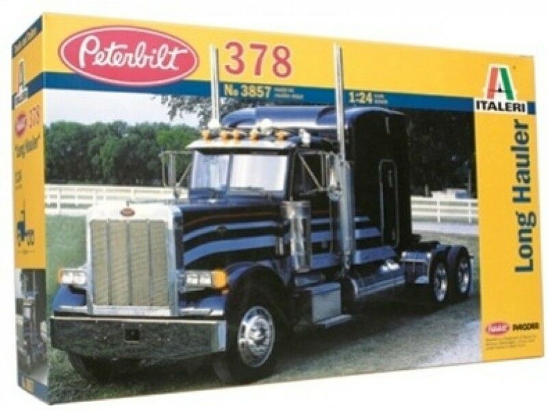 Italeri 1 24 Peterbilt 378 Long Hauler Plastic Model Kit