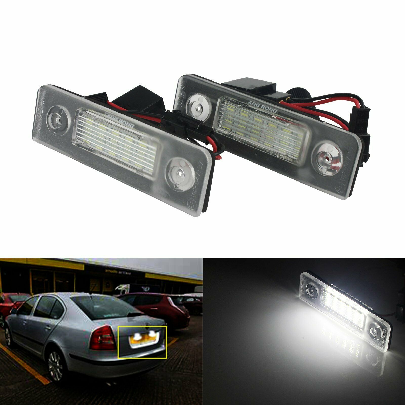 2x Fits Nissan Micra K11 Bright Xenon White LED Number Plate Upgrade Light Bulbs