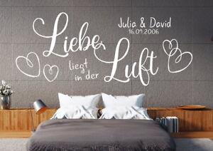 Details zu Wandtattoo Schlafzimmer Spruch Wandtatoo Wandsticker paar Liebe  Namen pkm288na