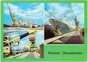 Ansichtskarte Rostock Überseehafen 1982