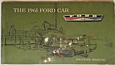 1961 Ford Passenger Car Original Owners Manual Vintage Collectible