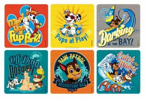 12 Paw Patrol Stickers Ryder Zuma Rubble Skye Chase Marshall Rocky Party Favor