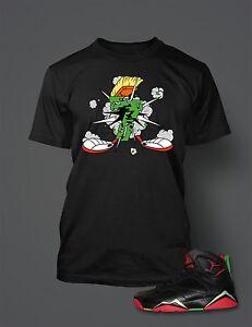 500e00cf T-shirt to Match Retro Jordan Marvin The Martian 7s Short Sleeve ...