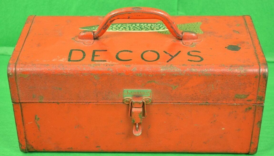'HandPainted Fish Decoys Metal Box'