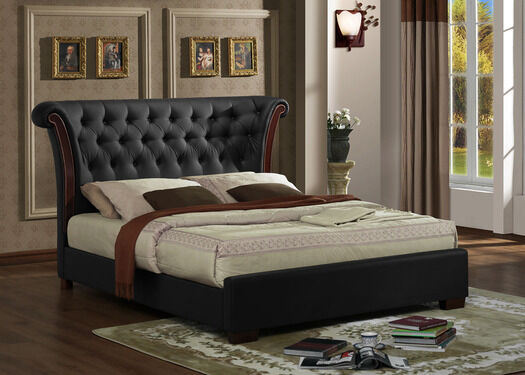 CHESTERFILED 4ft6 Double/ 5ft Kingsize Designer Faux Leather Bed Frame