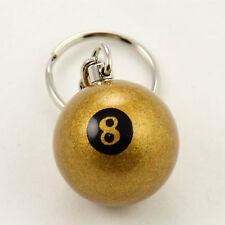 Miniature GOLDEN 8 Ball Aramith Keyring Lucky Gold 8 Ball Pool Ball Key Ring