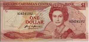 CARAIBES - 1 DOLLAR (1985-1988 Non Daté) - Billet de banque NEUF
