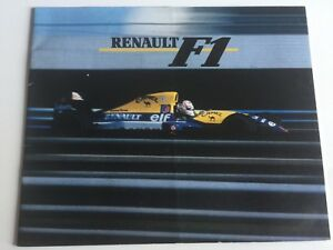 Catalogue-Review-Journal-Renault-Formule-1-Williams-Year-1994-20-Pages