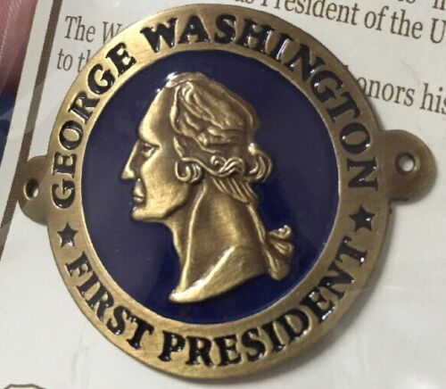 Goes On Stick Shield NEW George Washington 1st President Hiking Medallion