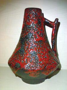 Vase-JOPEKO-44-25-WGP-Mid-Century-60s-70s-Keramik-Classic-FAT-LAVA-Pottery-TOP