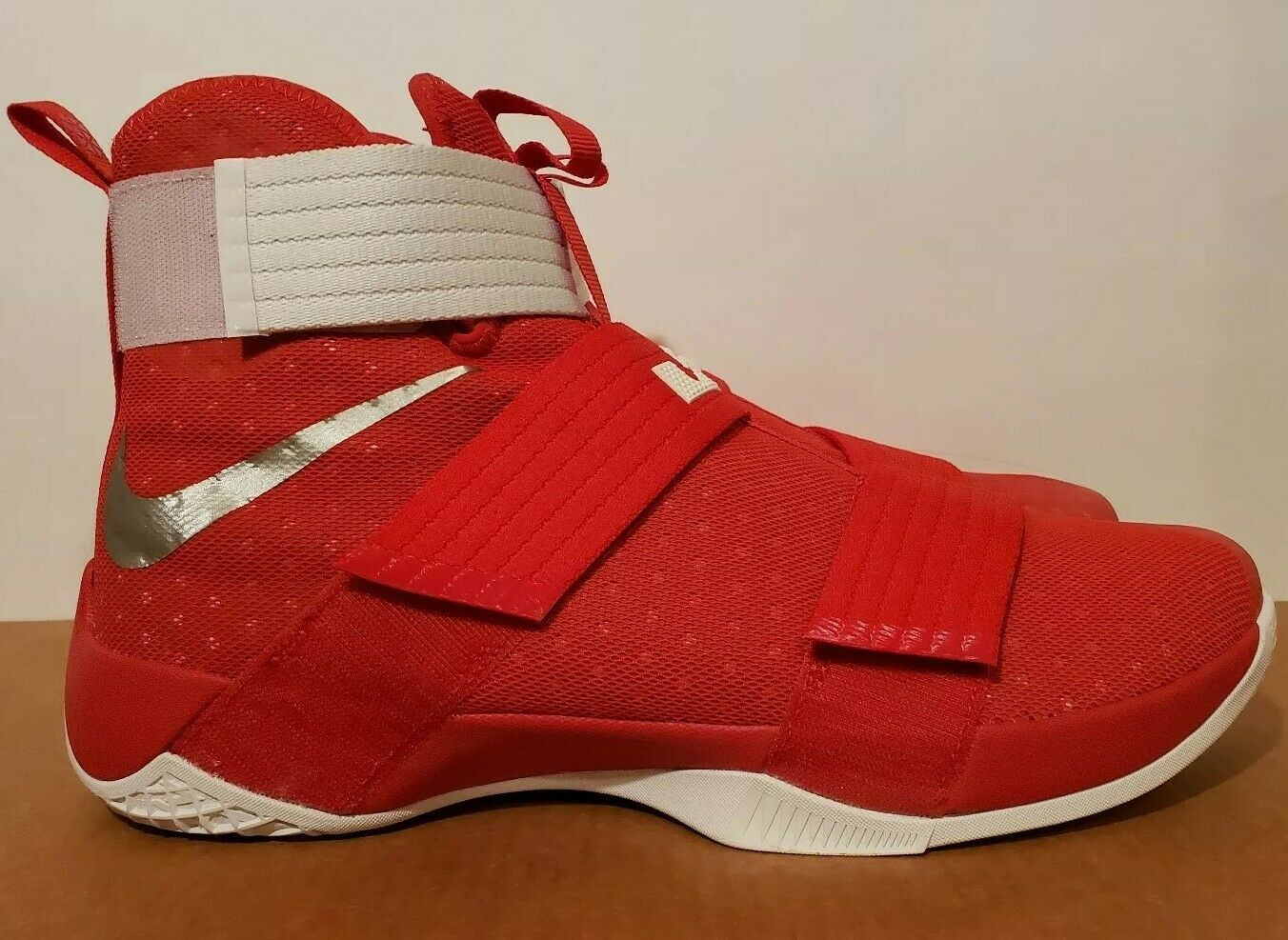 Size 14 NIKE LEBRON SOLDIER 10 X TB PROMO GYM RED basketball BRAND NEW ohio max