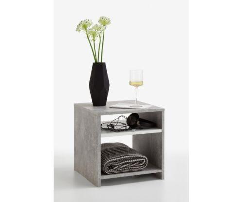 weiss Beistelltisch Regal Beistellregal Lund Light Atelier Beton grau